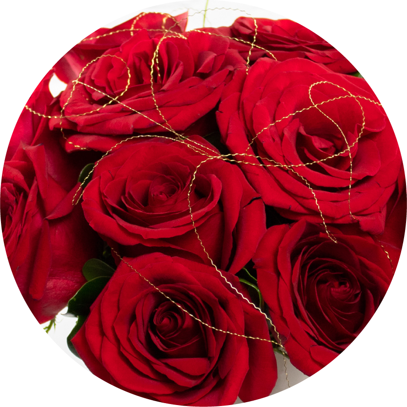 Red Flower Bouquets for Chicago Delivery