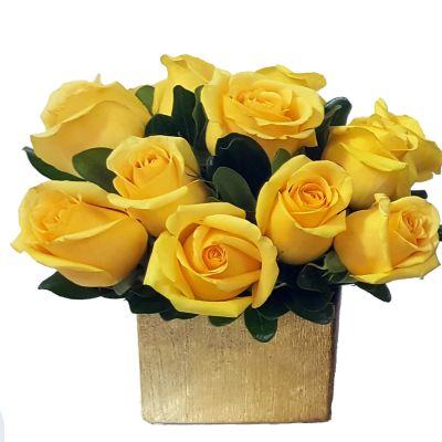 Signature Rose Box - Yellow