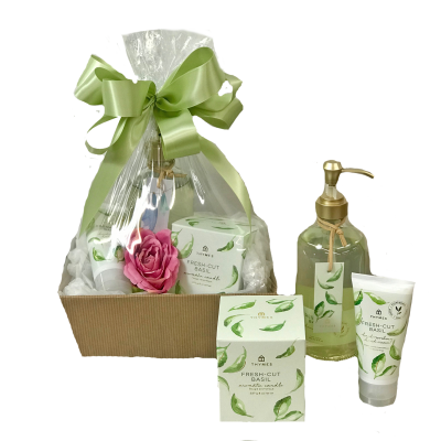 Thymes Fresh Cut Basil Basket