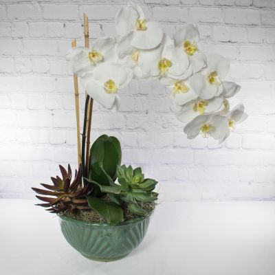 Eternal Blooms Deluxe - Faux Orchid Planter