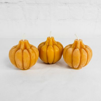 Beeswax Pumpkin Candle Trio