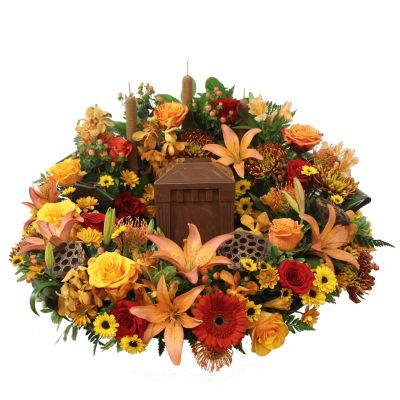 Urn Wreath - Vibrant Colors