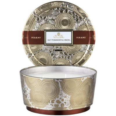 Voluspa Holiday Candle - 3 Wick Gilt Pomander