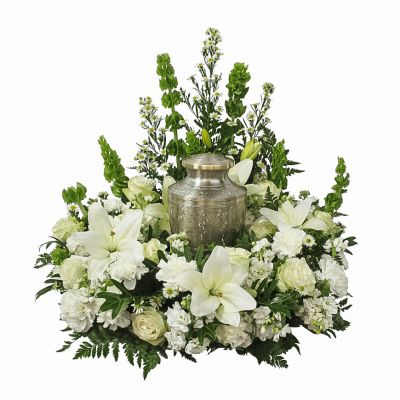 Urn Wreath - All White