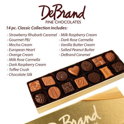 14 pc Assorted Chocolate Box by DeBrand